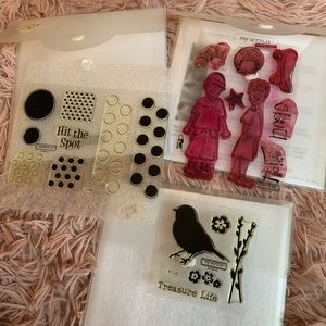 Bundle of 3 CTMH Close to my heart clear stamp set
